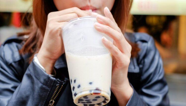 Drinking Milk Tea